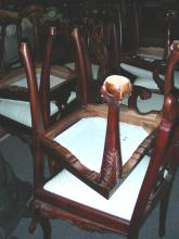 SET OF NINE MAHOGANY CHIPPENDALE STYLE CHAIRS
