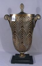 LARGE COMPOSITION DECORATIVE COVERED URN