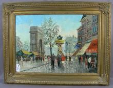ORIGINAL VINTAGE FRENCH OIL ON CANVAS BY ANDRE'