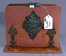 ANTIQUE UPHOLSTERED PHOTO ALBUM