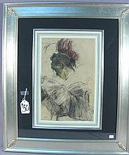 EDGAR DEGAS (1834-1917) FRENCH - ORIGINAL OFFSET LITHOGRAPH ON LAID PAPER