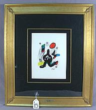 JOAN MIRO (1893-1983) SPANISH - LIMITED EDITION ORIGINAL LITHOGRAPH ON VELIN DE ARCHES PAPER IN COLORS