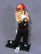 FINE ITALIAN BRONZE SCULPTURE OF STANDING CLOWN