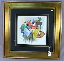 ITZCHAK TARKAY (1935-2012) YUGOSLAVIAN/HUNGARIAN - ORIGINAL MIXED MEDIA WATER COLOR