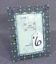 METAL AND ENAMEL PHOTO FRAME