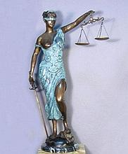BRONZE SCALES OF JUSTICE