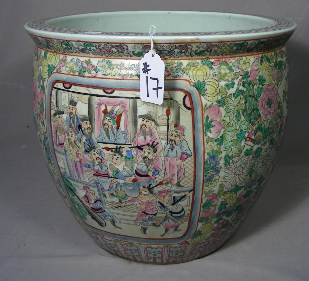 VERY FINE CHINESE PORCELAIN FISHBOWL