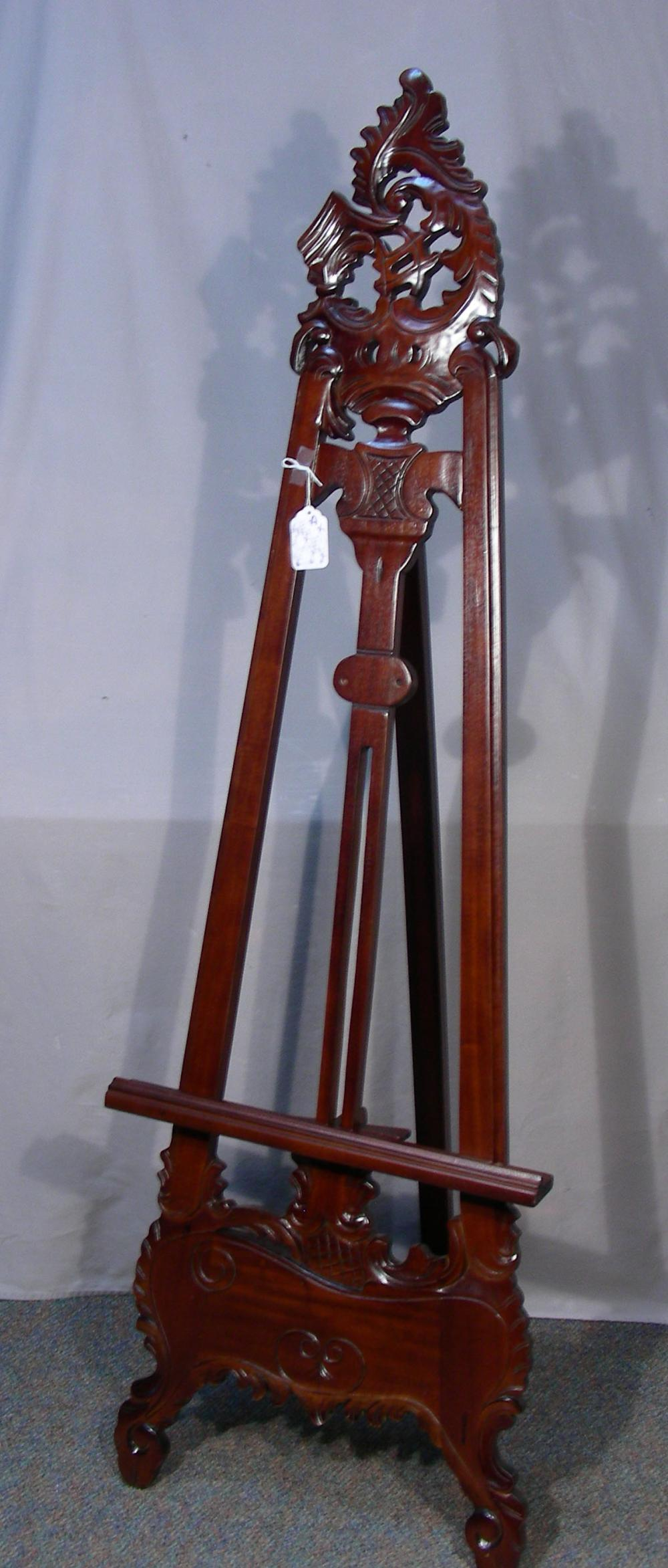 HAND CARVED MAHOGANY EASEL