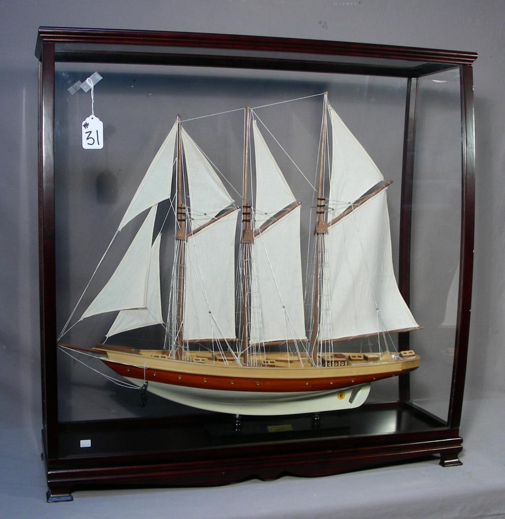 CASED MODEL SHIP - REPLICA OF THE ATLANTIC 1903
