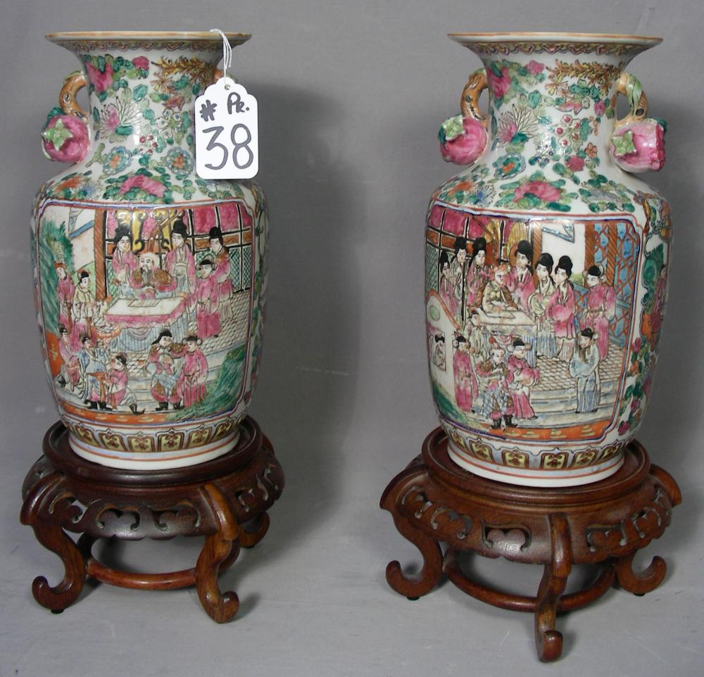 PAIR OLD FINE CHINESE PORCELAIN VASES