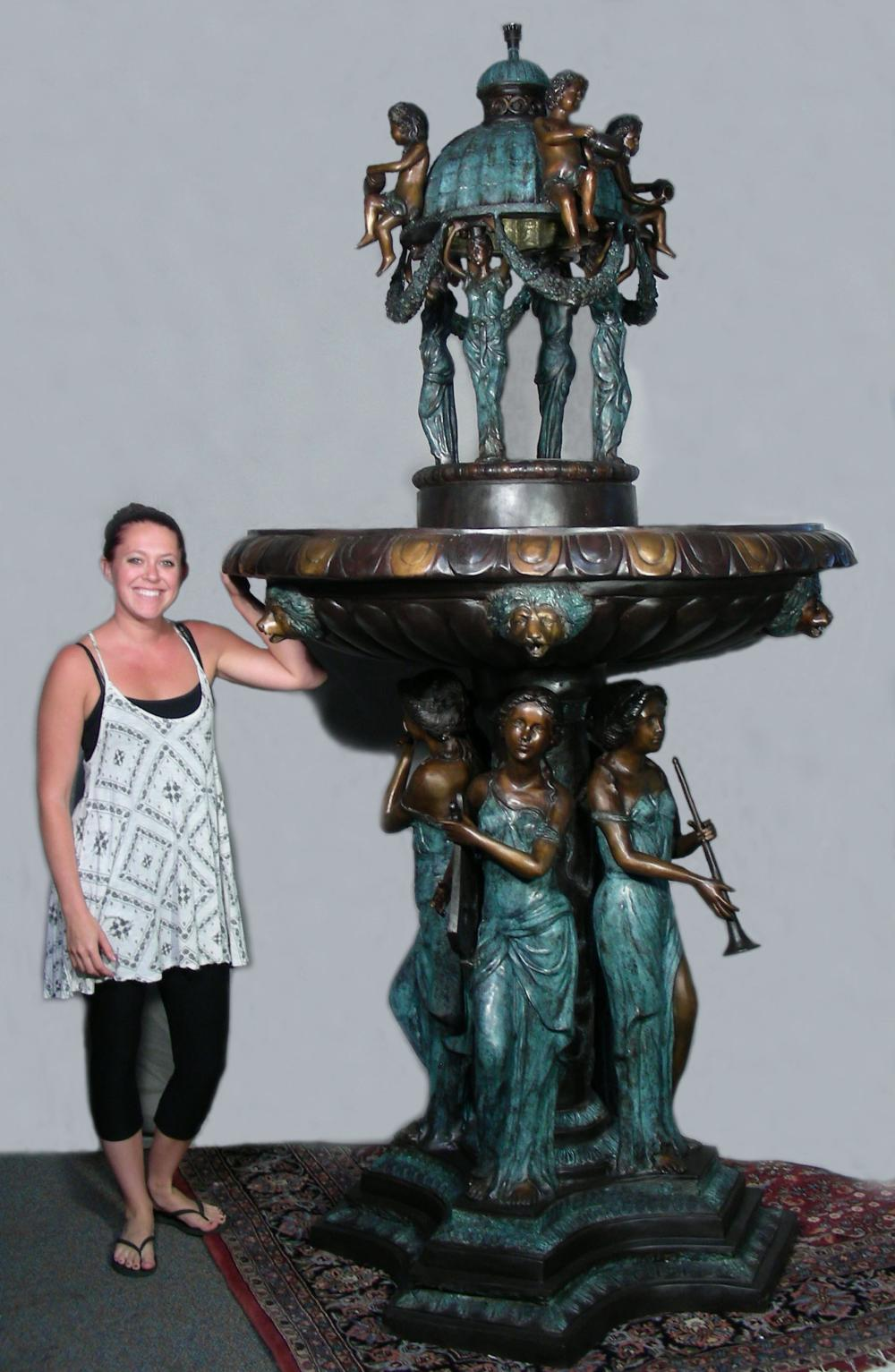 OUTSTANDING MONUMENTAL BRONZE FIGURAL FOUNTAIN