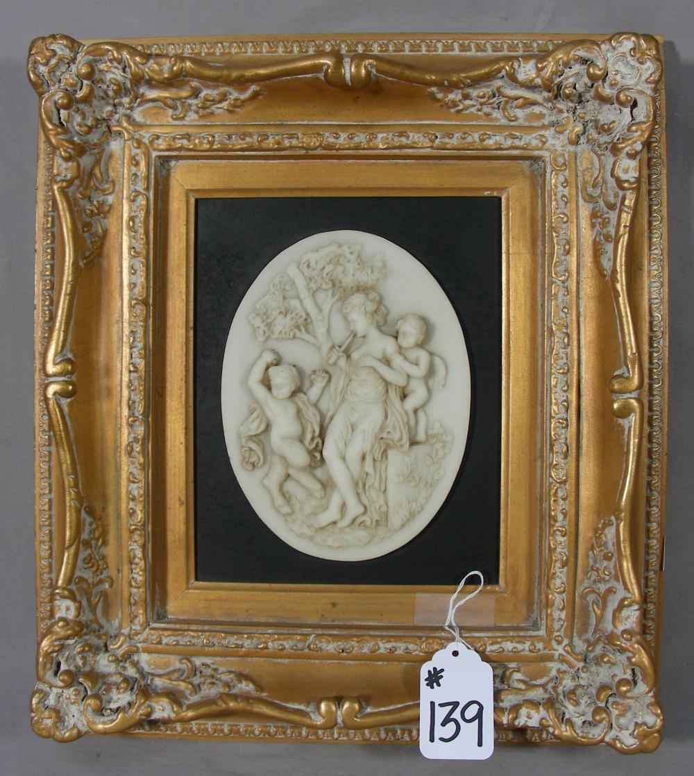 COMPOSITION PLAQUE OF FIGURES IN HIGH RELIEF