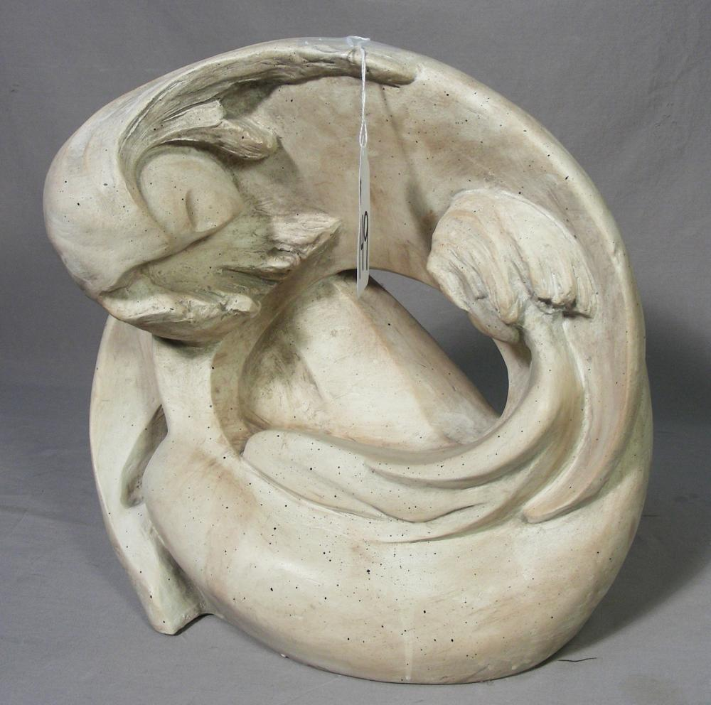 """CUSTOM MADE ABSTRACT SCULPTURE """"MOTHER & CHILD"""""""