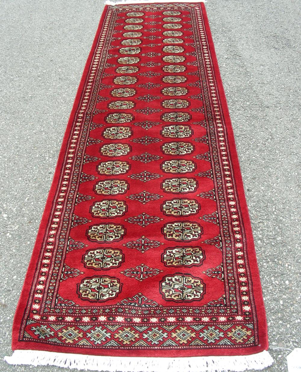 HAND KNOTTED BOKHARA RUNNER