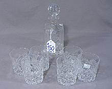 EUROPEAN CUT CRYSTAL 7 PIECE DECANTER SET