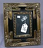 ORNATE BLACK AND GILT PHOTO FRAME