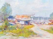 Bruni, Umberto (1914 - ) Marina, Ile Perrot 1979