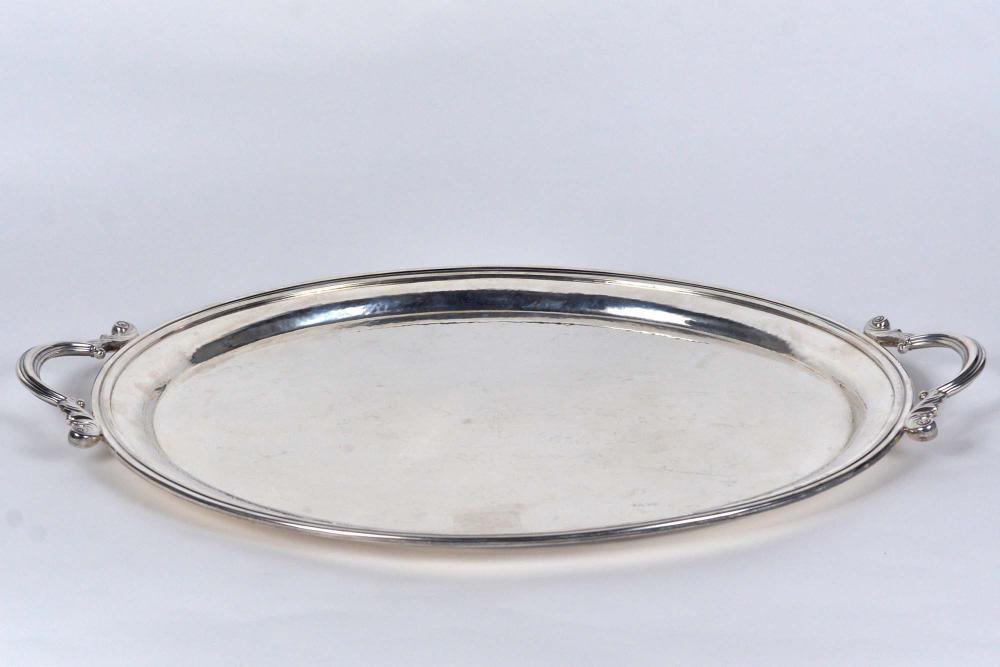 Birks - Hammered sterling silver tray