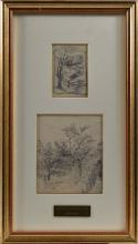Huot, Charles Edouard Masson - Paysage (2x)