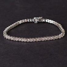 Ladies Bracelet in White 14K Gold with Diamonds