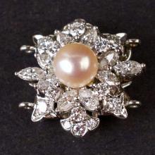 Vintage Brooch in Platinum with Diamonds