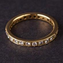 Ladies Eternity Ring in Yellow 18K Gold with Diamonds