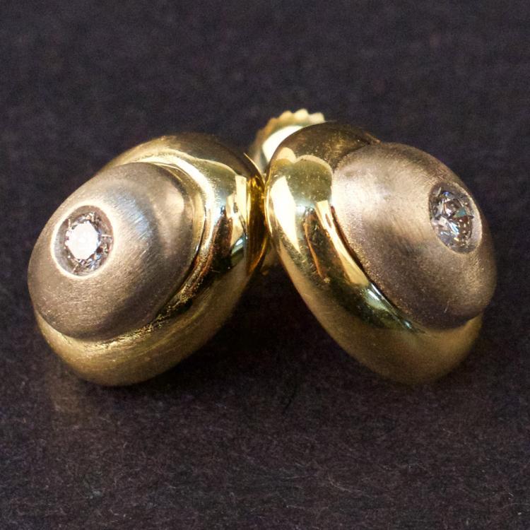 Earrings in Yellow 18K Gold with Diamonds