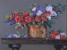 Zegray, Lucienne - Oeillets et veronicas - 1994