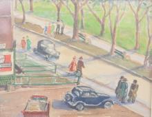 Ryshpan, Myer - Street Scene -1958