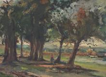 Verona, Paul (1897-1961) (Roumanie/Romania) Paysage (1958)