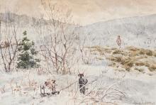 Edson, Aaron Allan (1846-1888) Winter scene