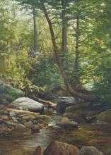 Edson, Aaron Allan (1846-1888) River in the wood