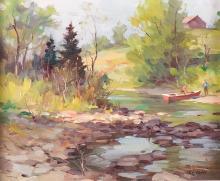 Bruni, umberto (1914- ) À la rivière New-Glascow, Québec (1983)