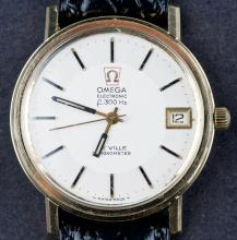 Classic 1970's Omega DeVille Chronometer Electronic 300hz Wristwatch