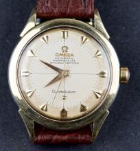 Vintage 1954 Omega Constellation 14 Kt Gold Cal. 354