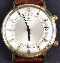 Classic Jaeger Lecoultre Memovox Calendar Alarm Mechanical Movement Wristwatch