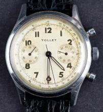 Vintage Swiss Made Tollet Chronograph Wristwatch