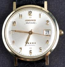 Vintage 14 Kt Gold Longines Admiral 5 Stars Automatic Watch