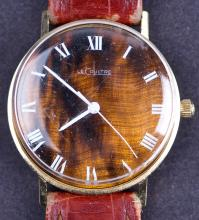 Vintage Jaeger Lecoultre 14 Kt Gold Manual Wind Wristwatch with Rare