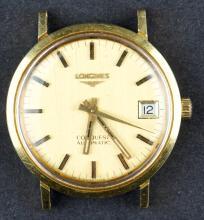 Vintage 18 Kt Gold Automatic Longines Conquest Watch