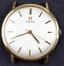 Vintage 18 Kt Gold Omega Manual Wind Watch