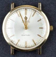 Vintage 1966 Automatic Omega Century Watch with 18 Kt Gold Case