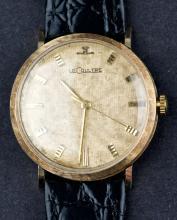 Vintage 14 Kt Gold Jeager Lecoultre Cal. 830 Wristwatch