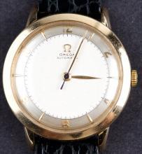 Vintage Omega Automatic 14 Kt Gold Mens Dress Watch