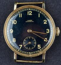 Vintage 1940's Millitary A.Lange & Sohne Glasshutte 14 Kt Gold Watch