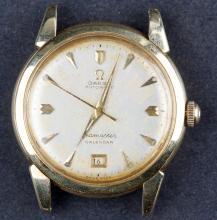 Vintage 1950 14 Kt Gold Automatic Omega SEAMASTER Calendar Watch