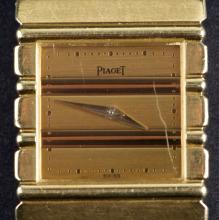 Circa 1980's 18 Kt Gold Piaget Polo Ladies Wristwatch