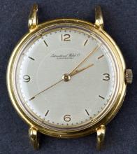 Circa 1940's IWC 18Kt Gold Cal. C89 Mens Dress Watch