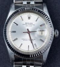 Vintage Rolex Oyster Perpetual Date Just Officially Certified Superlative Chronometer Wristwatch