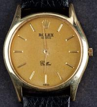 Vintage Gold Rolex Cellini Mechanical Hand Winding Cal.1600 Wristwatch